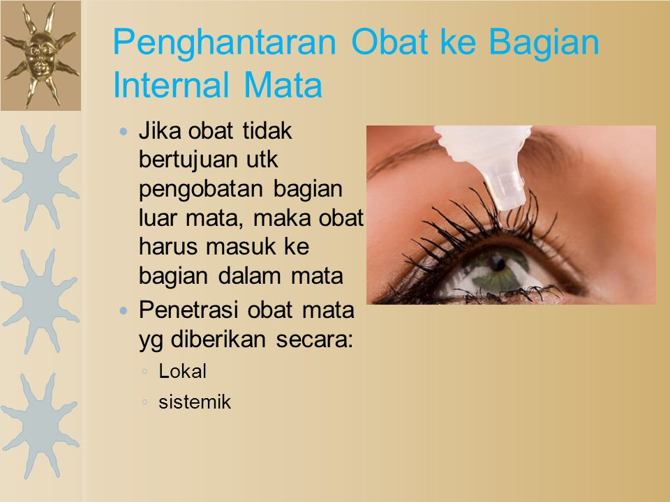 Penghantaran Obat ke Bagian Internal Mata
