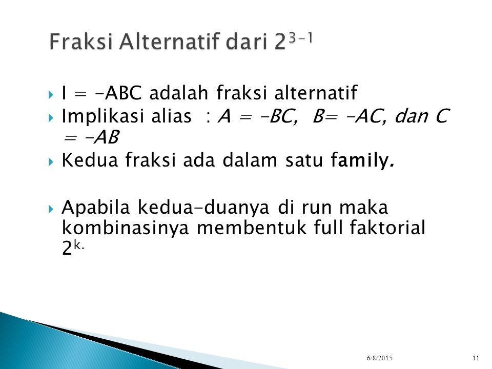 Fraksi Alternatif dari 23-1