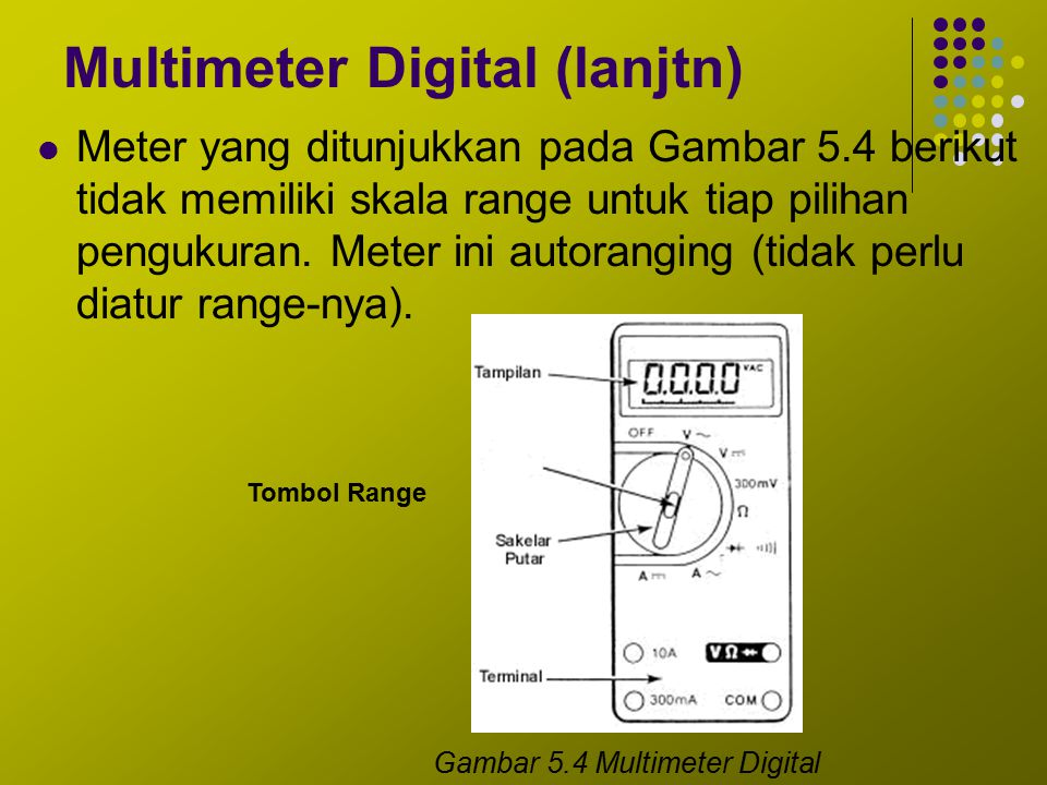 Multimeter Digital (lanjtn)