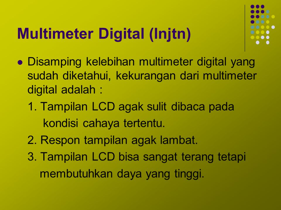 Multimeter Digital (lnjtn)