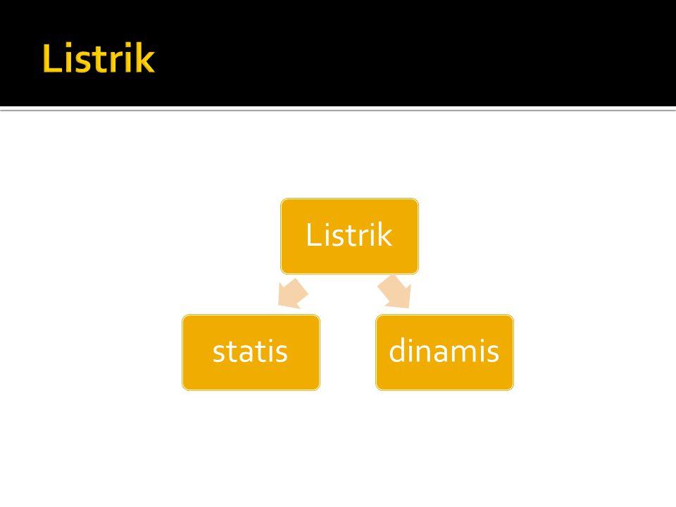 Listrik Listrik dinamis statis