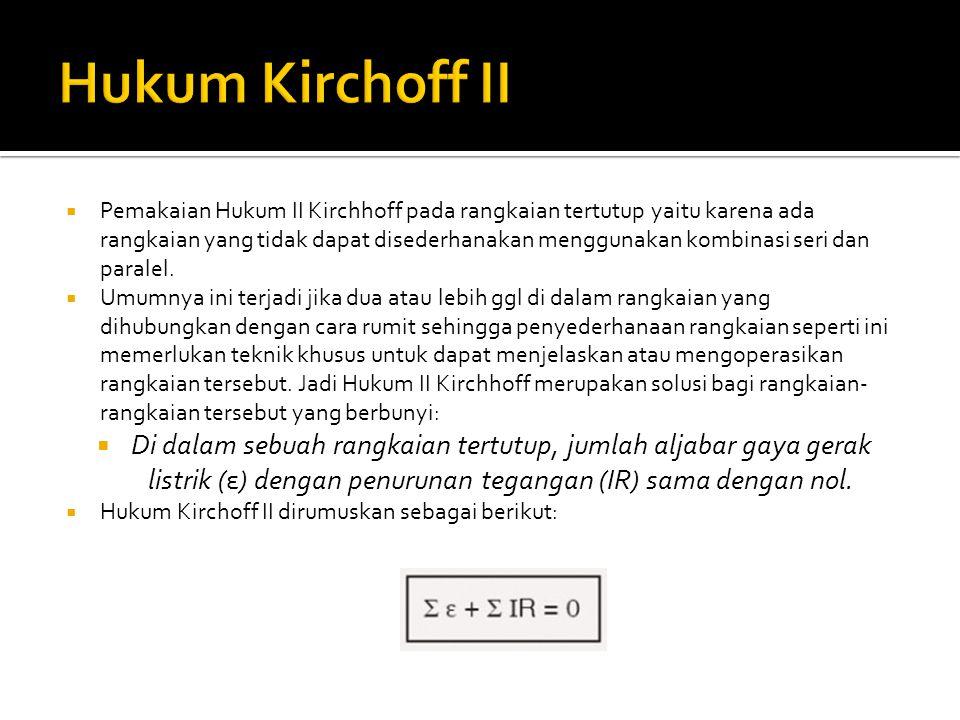 Hukum Kirchoff II
