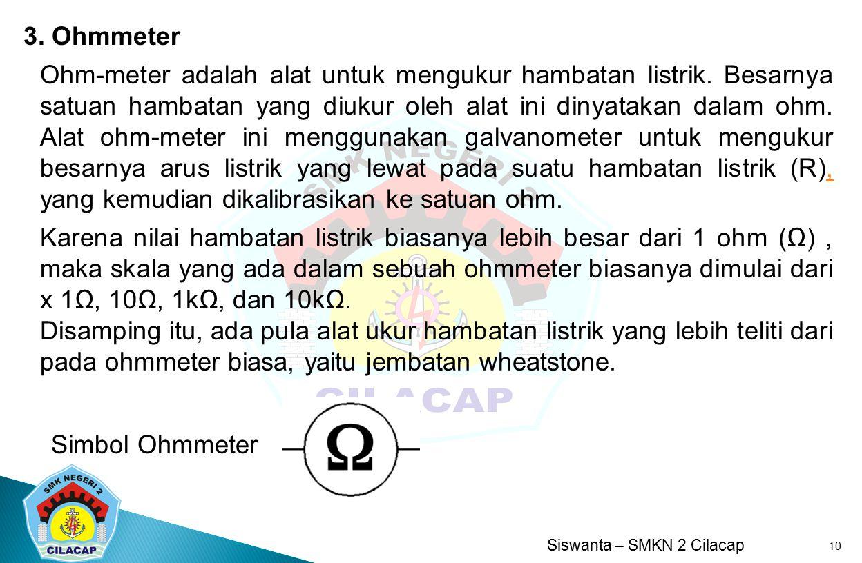 3. Ohmmeter