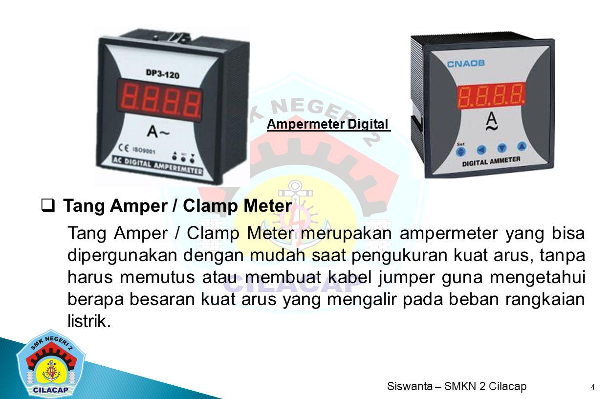 Tang Amper / Clamp Meter