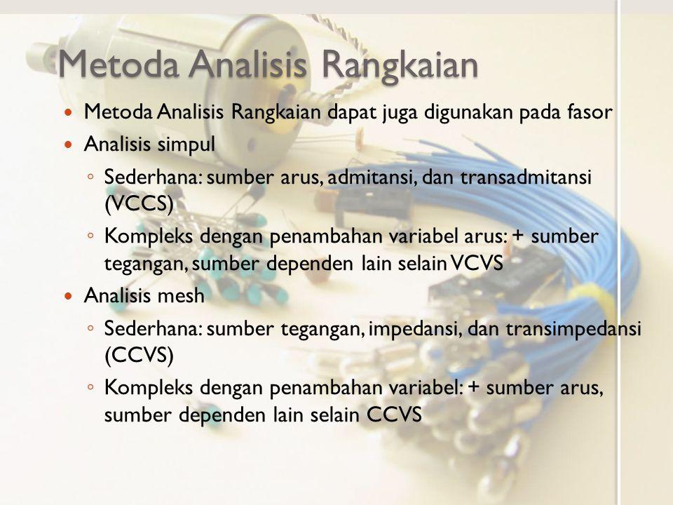 Metoda Analisis Rangkaian