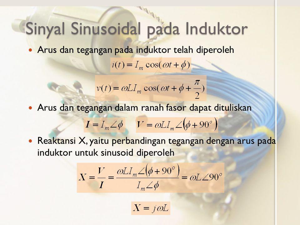 Sinyal Sinusoidal pada Induktor