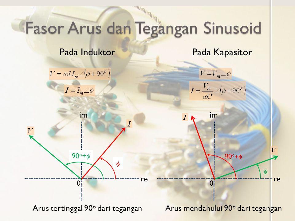 Fasor Arus dan Tegangan Sinusoid