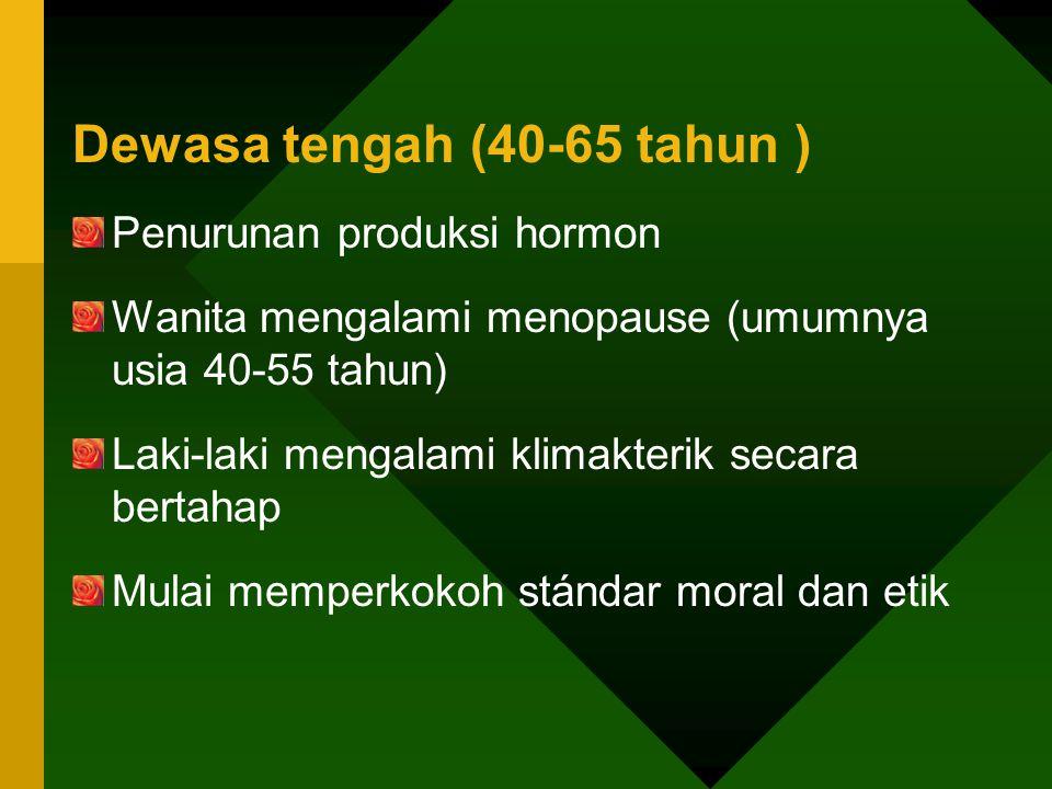 Dewasa tengah (40-65 tahun )
