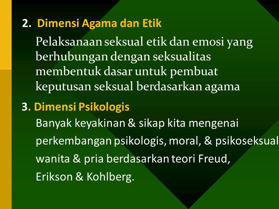 2. Dimensi Agama dan Etik