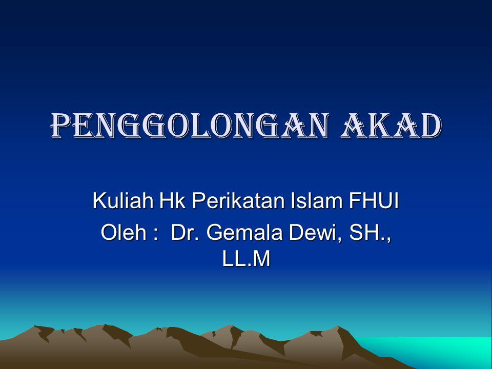 Kuliah Hk Perikatan Islam FHUI Oleh : Dr. Gemala Dewi, SH., LL.M