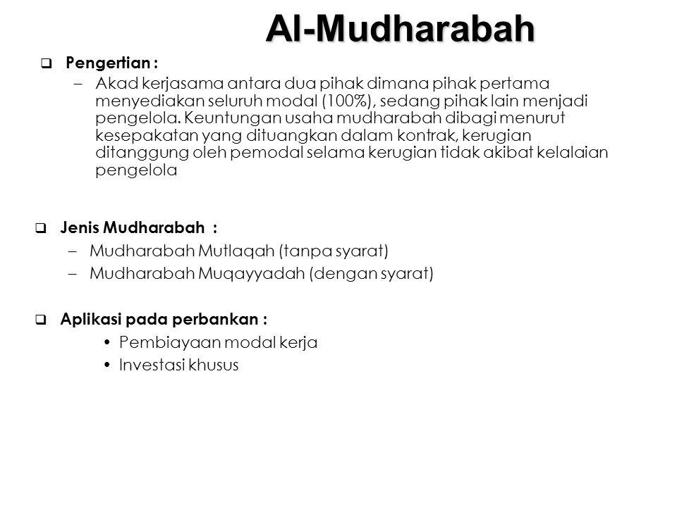 Al-Mudharabah Pengertian :