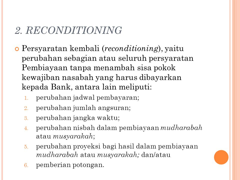2. RECONDITIONING