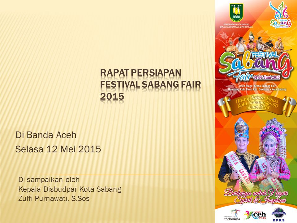 RAPAT PERSIAPAN FESTIVAL SABANG FAIR 2015