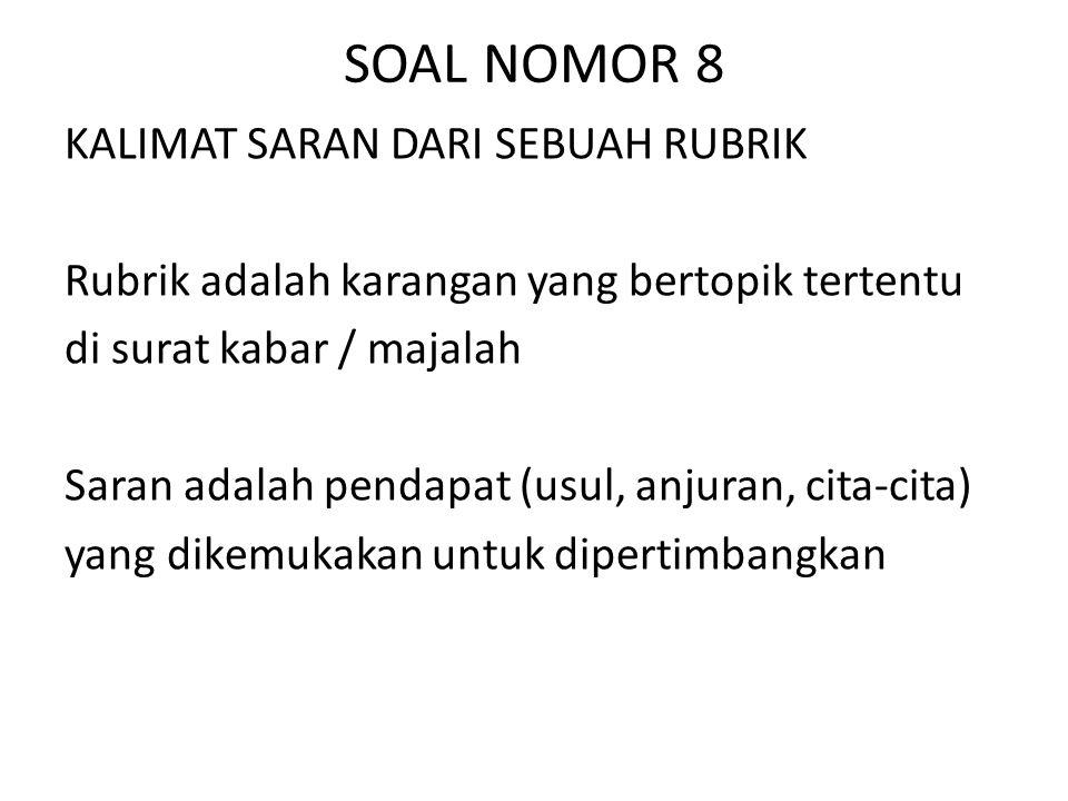 SOAL NOMOR 8
