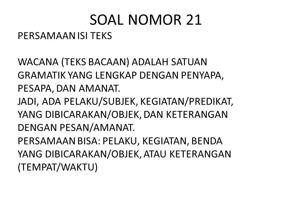 SOAL NOMOR 21