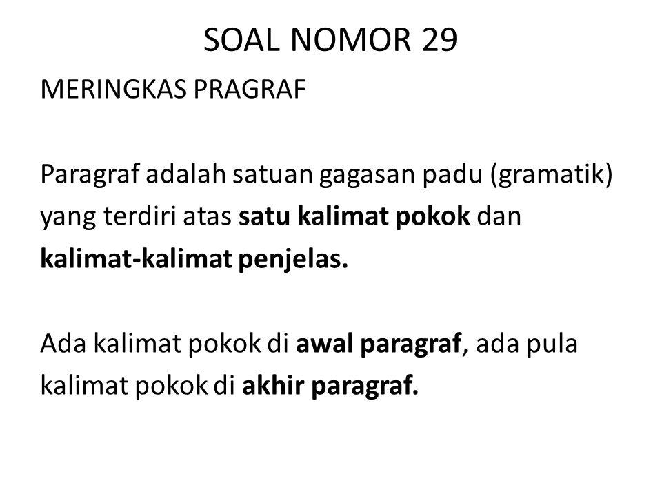 SOAL NOMOR 29