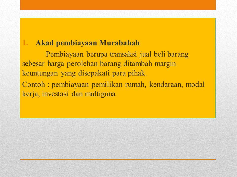 Akad pembiayaan Murabahah