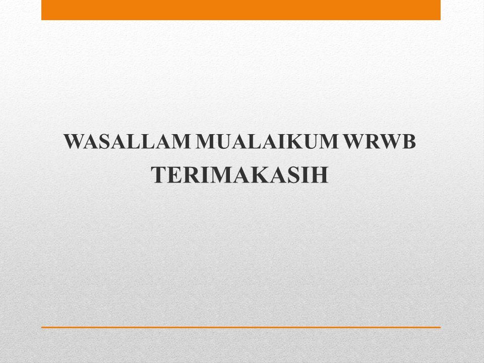WASALLAM MUALAIKUM WRWB