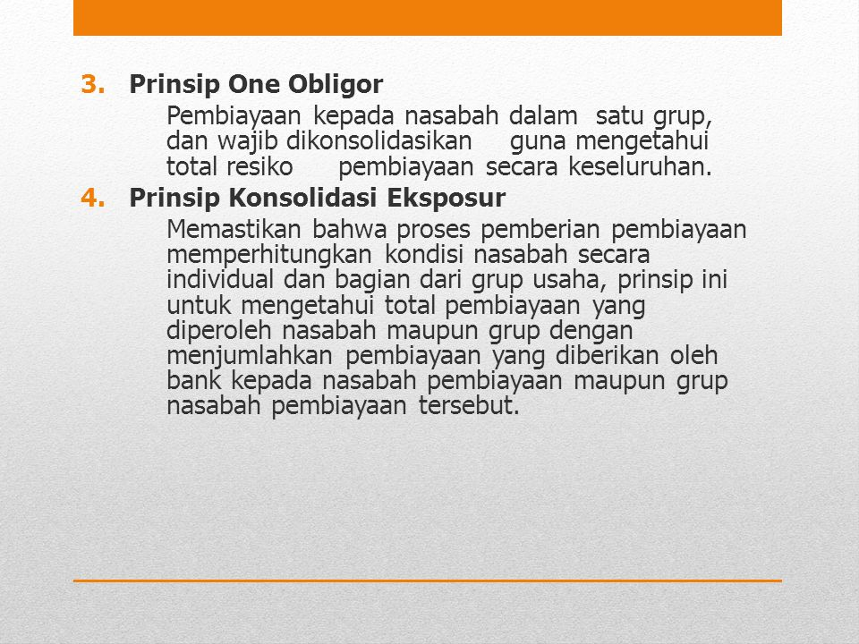 Prinsip One Obligor