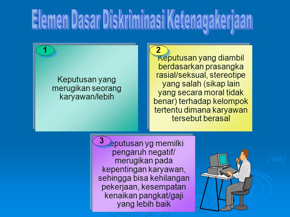 Elemen Dasar Diskriminasi Ketenagakerjaan