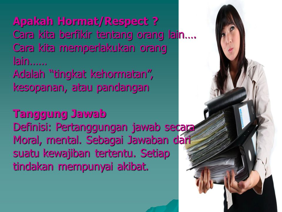 Apakah Hormat/Respect