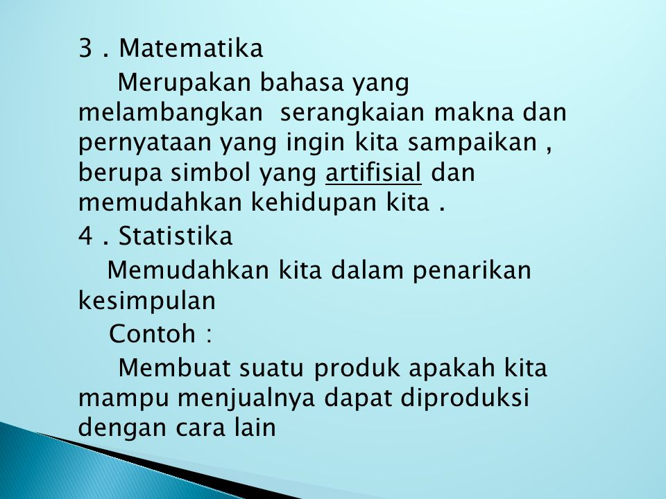 3 . Matematika