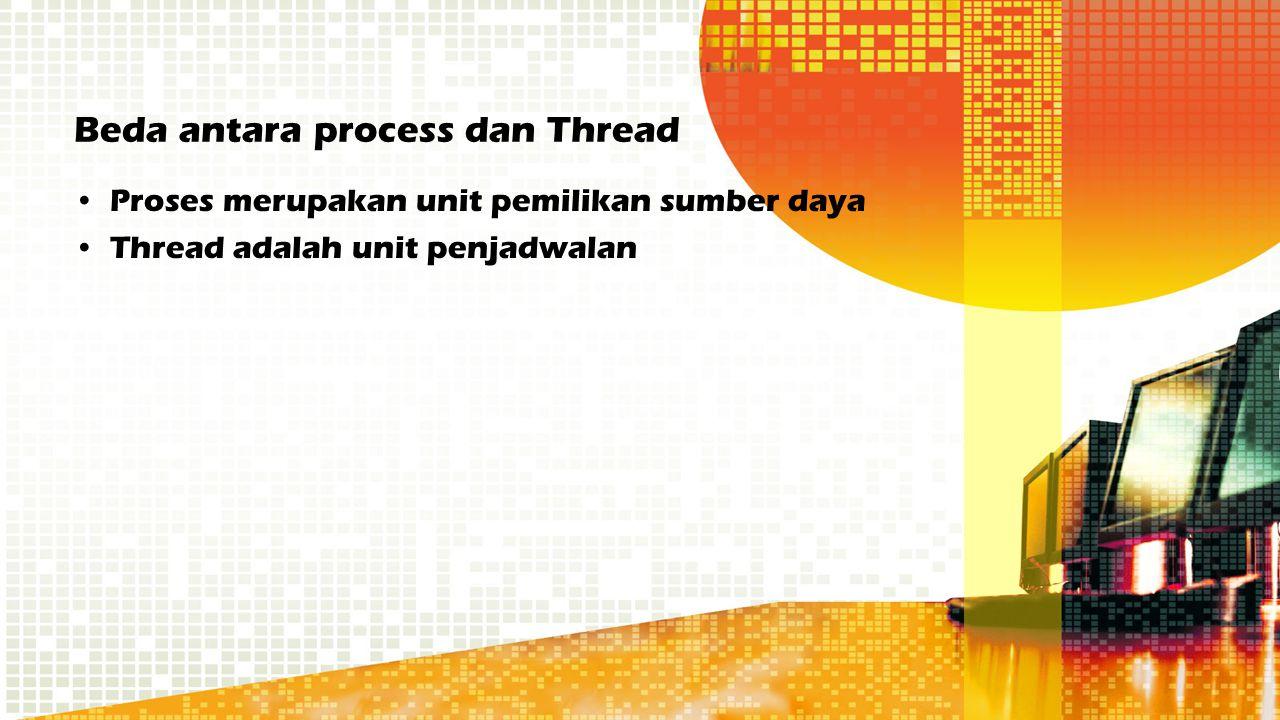 Beda antara process dan Thread