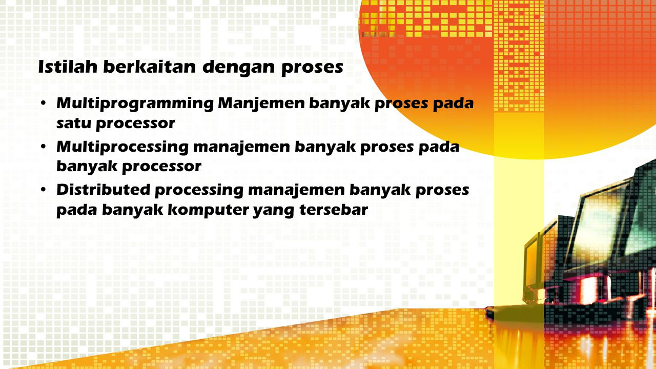 Istilah berkaitan dengan proses