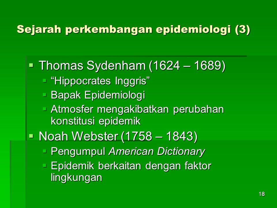 Sejarah perkembangan epidemiologi (3)