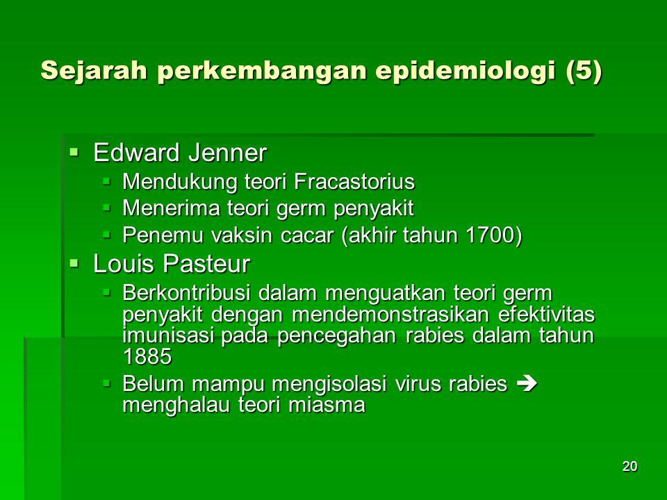 Sejarah perkembangan epidemiologi (5)