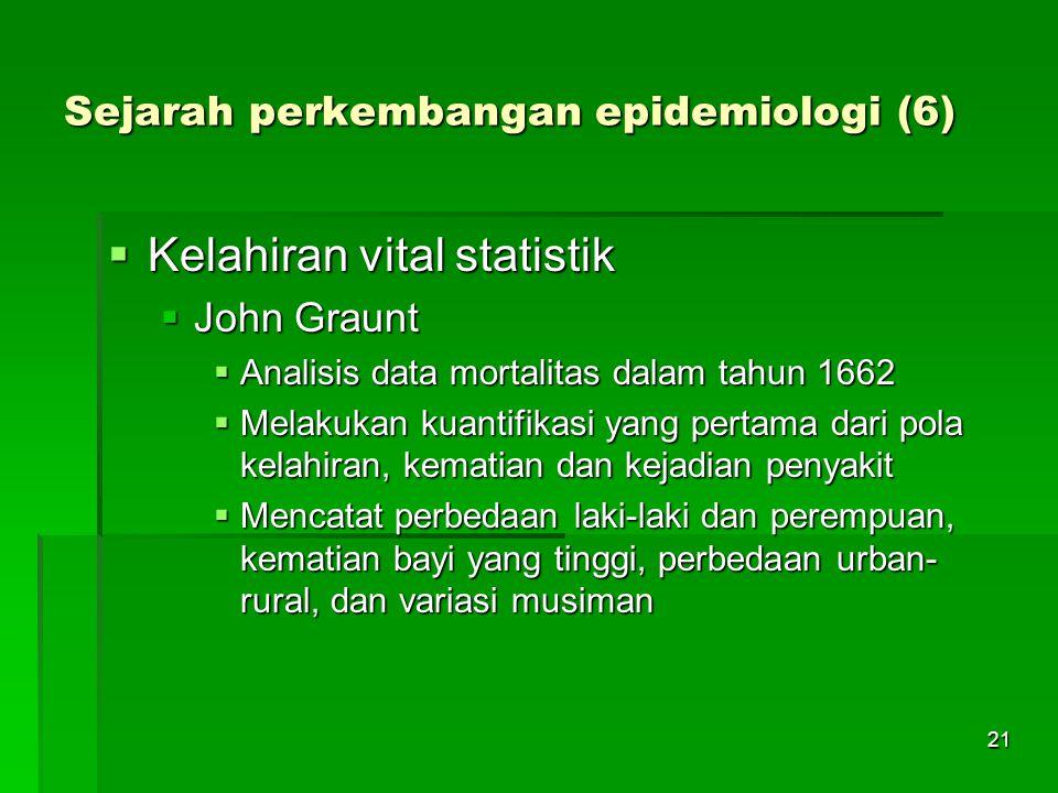 Sejarah perkembangan epidemiologi (6)