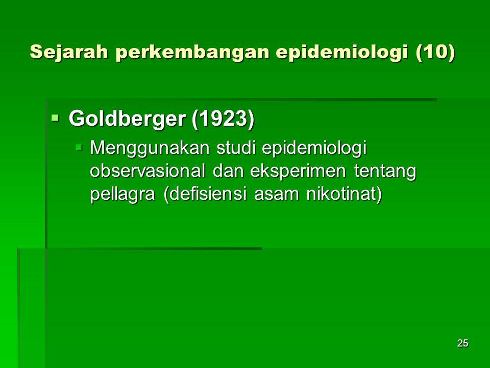 Sejarah perkembangan epidemiologi (10)