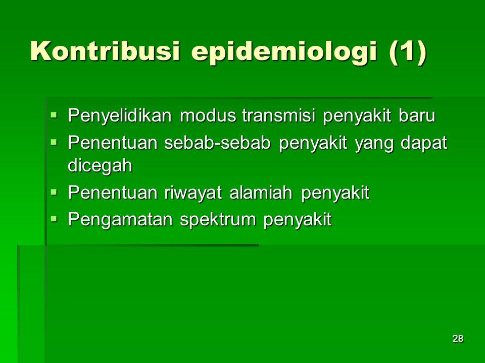 Kontribusi epidemiologi (1)