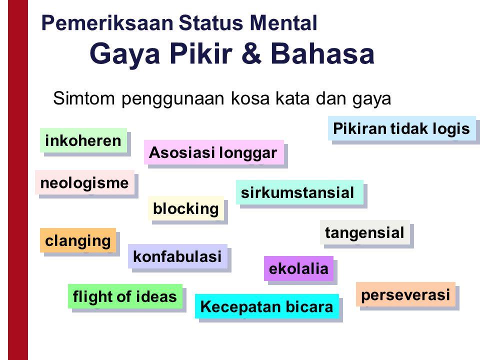 Pemeriksaan Status Mental Gaya Pikir & Bahasa