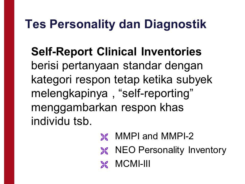 Tes Personality dan Diagnostik