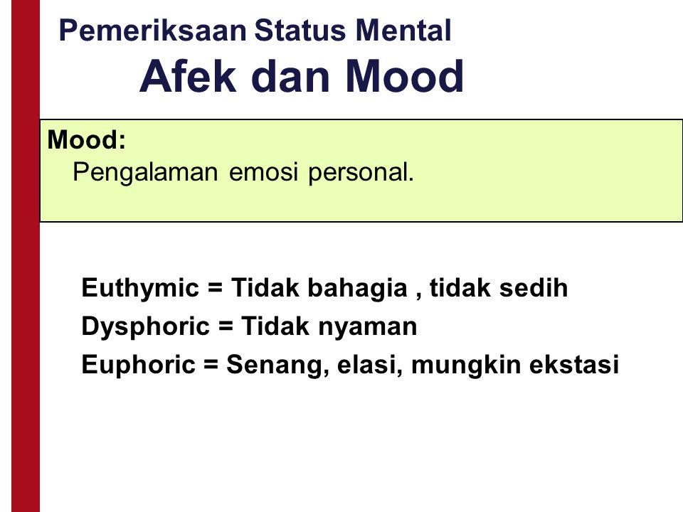 Pemeriksaan Status Mental Afek dan Mood