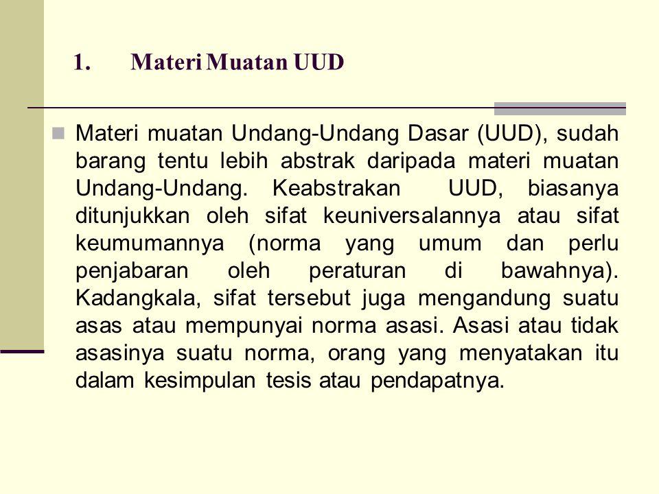 1. Materi Muatan UUD