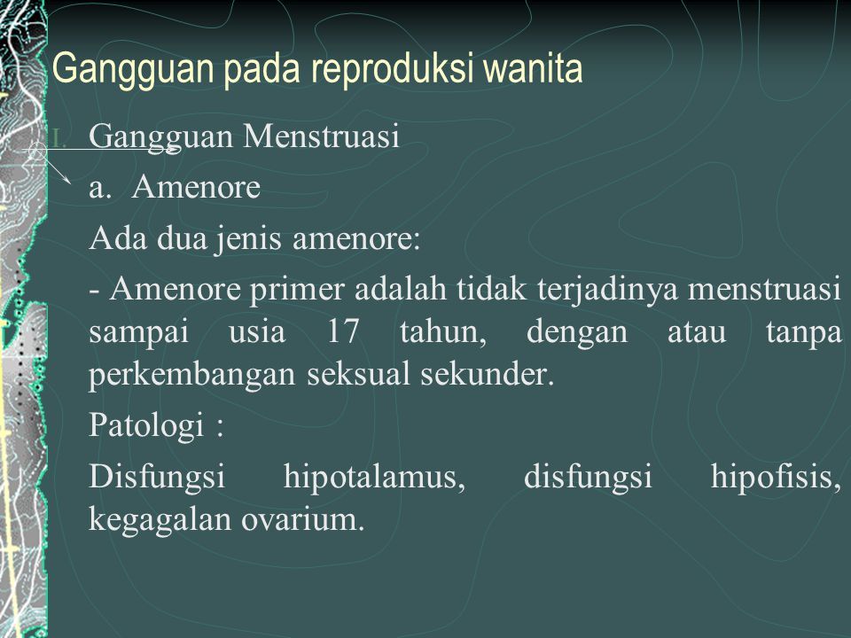 Gangguan pada reproduksi wanita