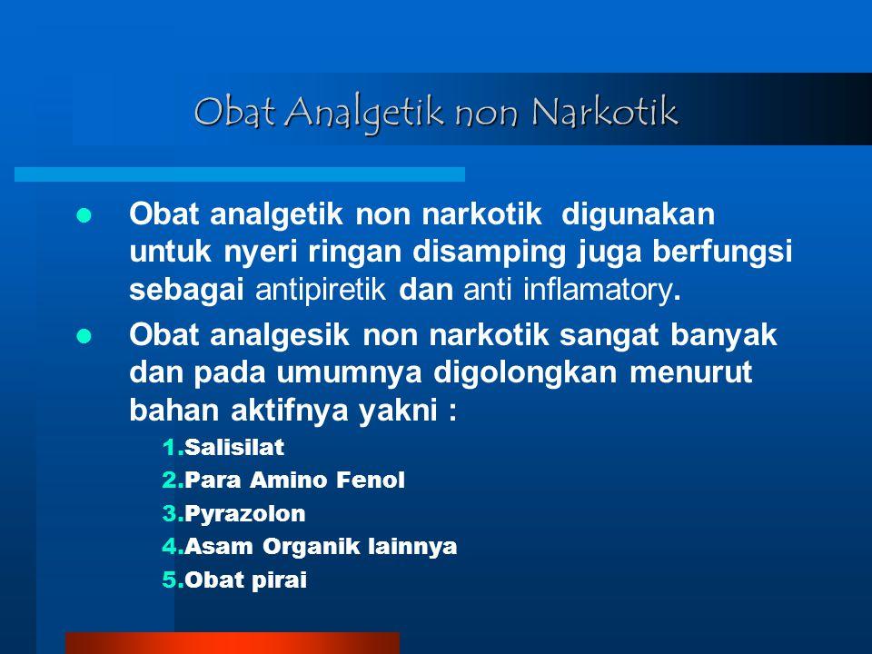 Obat Analgetik non Narkotik