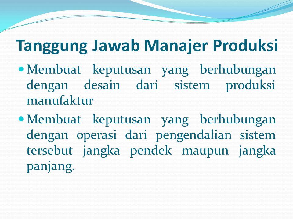 Tanggung Jawab Manajer Produksi
