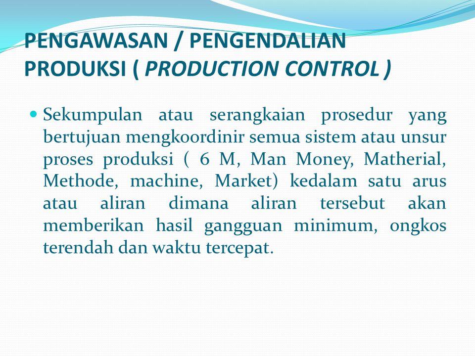 PENGAWASAN / PENGENDALIAN PRODUKSI ( PRODUCTION CONTROL )