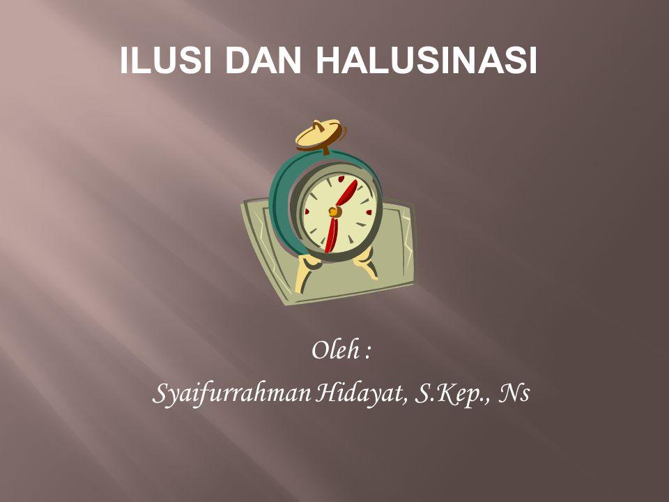 Syaifurrahman Hidayat, S.Kep., Ns