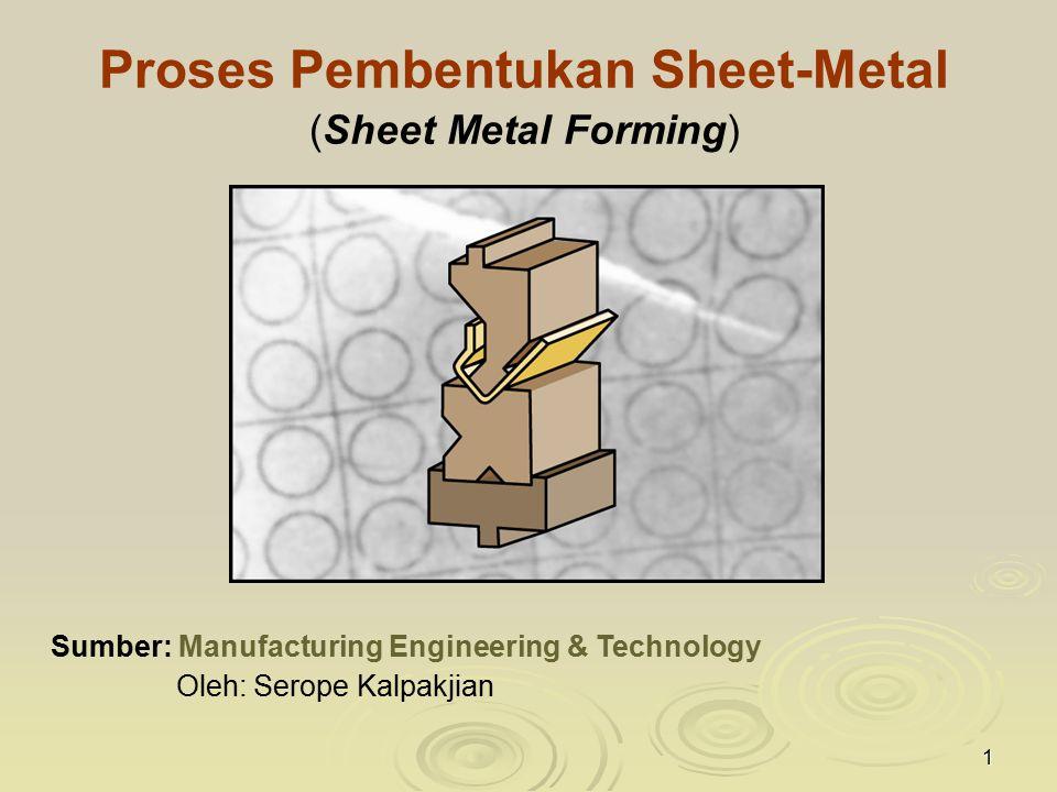 Proses Pembentukan Sheet-Metal (Sheet Metal Forming)