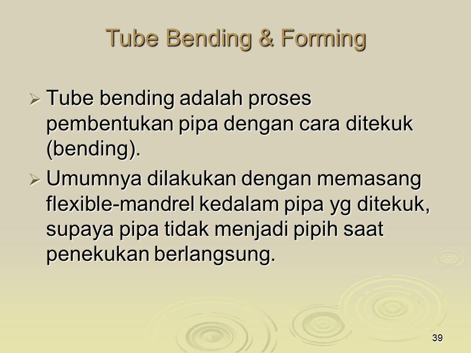 Tube Bending & Forming Tube bending adalah proses pembentukan pipa dengan cara ditekuk (bending).