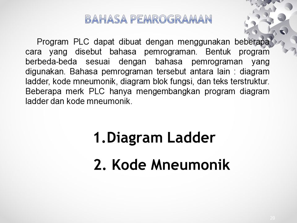 Diagram Ladder 2. Kode Mneumonik
