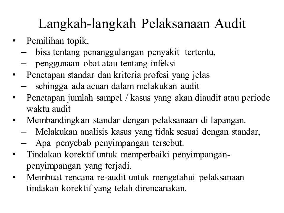 Langkah-langkah Pelaksanaan Audit