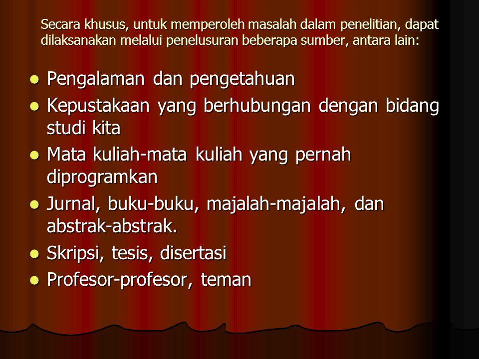 Pengalaman dan pengetahuan
