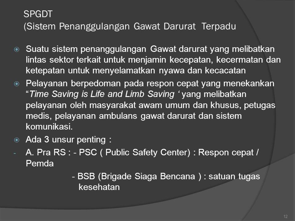 SPGDT (Sistem Penanggulangan Gawat Darurat Terpadu