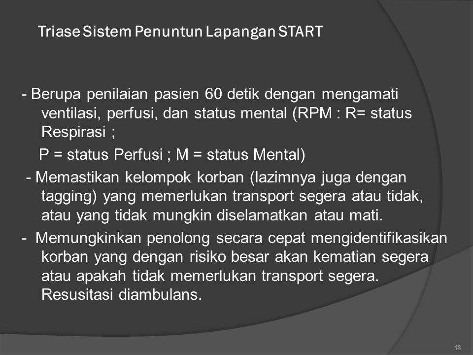 Triase Sistem Penuntun Lapangan START