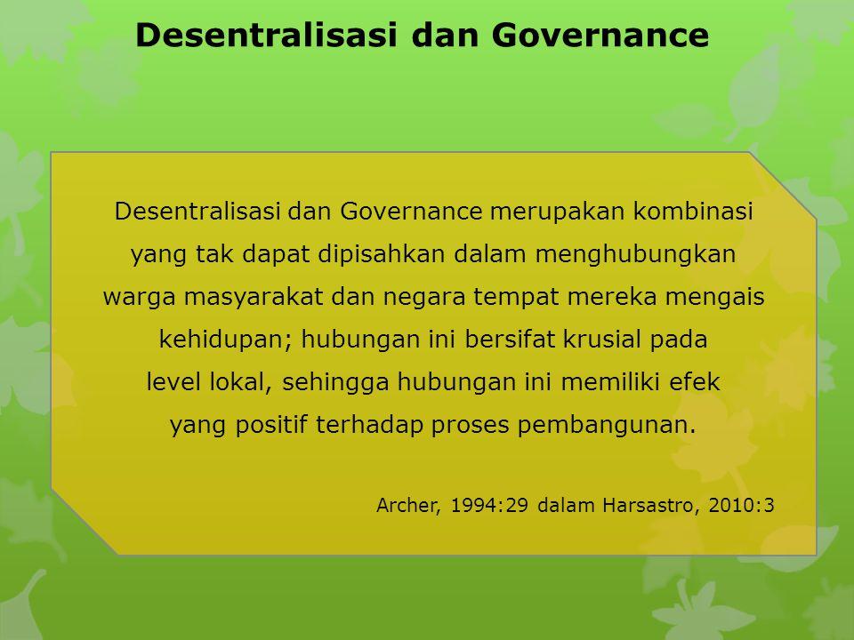 Desentralisasi dan Governance
